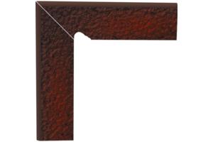 ЦОКОЛЬ ДВУХЭЛЕМЕНТНЫЙ ЛЕСТНИЧНЫЙ СТРУКТУРНЫЙ CLOUD BROWN DURO левый